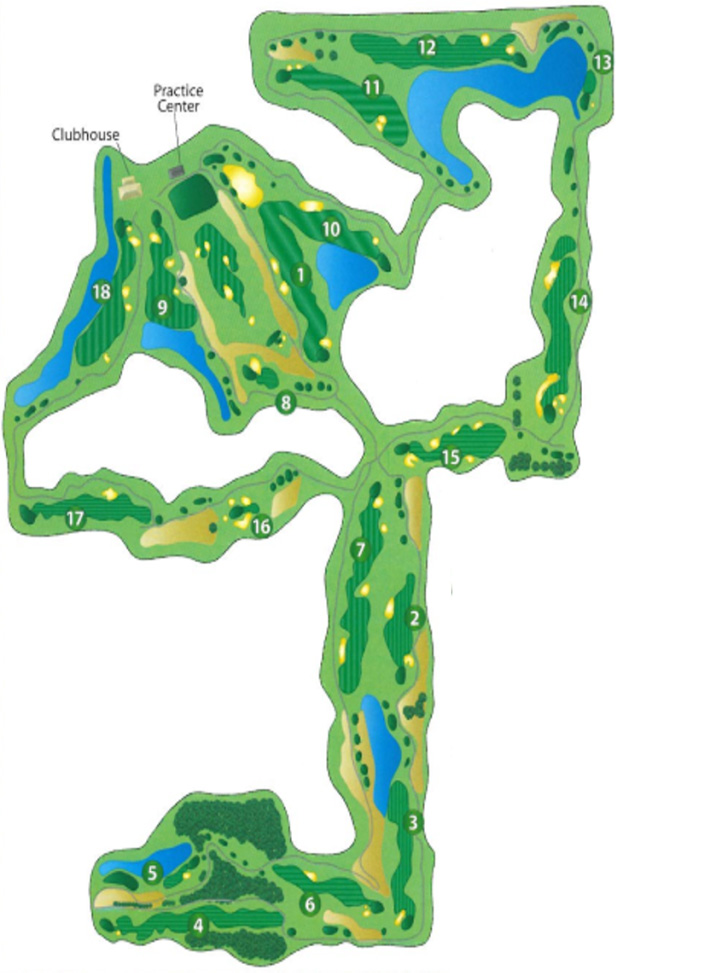Scorecard Course Layout Stone Ridge Golf Club Bowling Green Oh